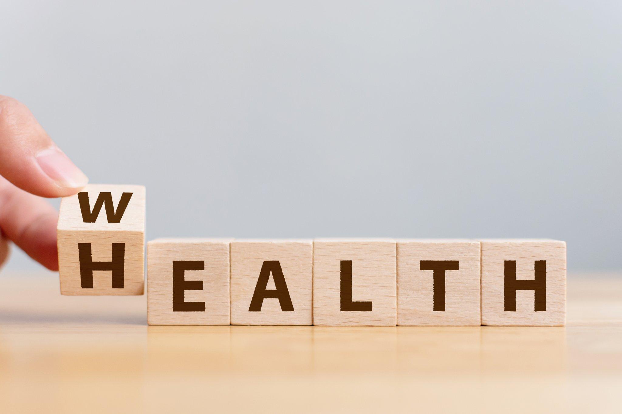 Wellbeing Health Wealth Blocks